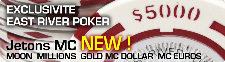 JETONS DE POKER MC DOLLAR MILLIONS GOLD EURO